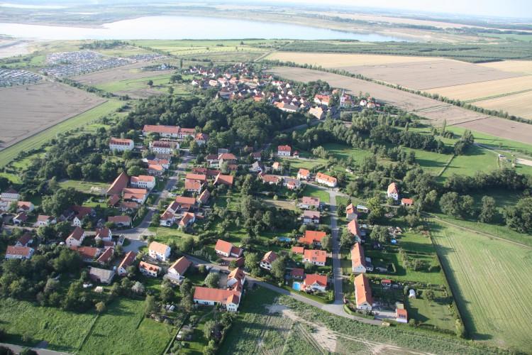 Dreiskau-Muckern, Luftbild