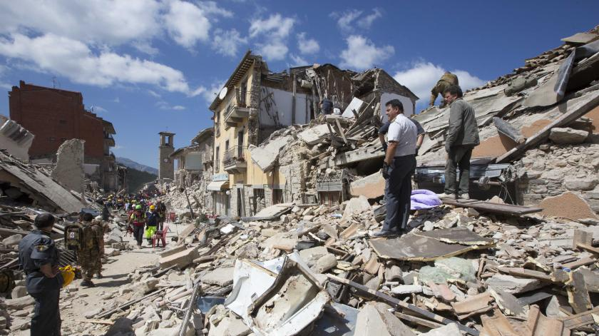 Amatrice destruction