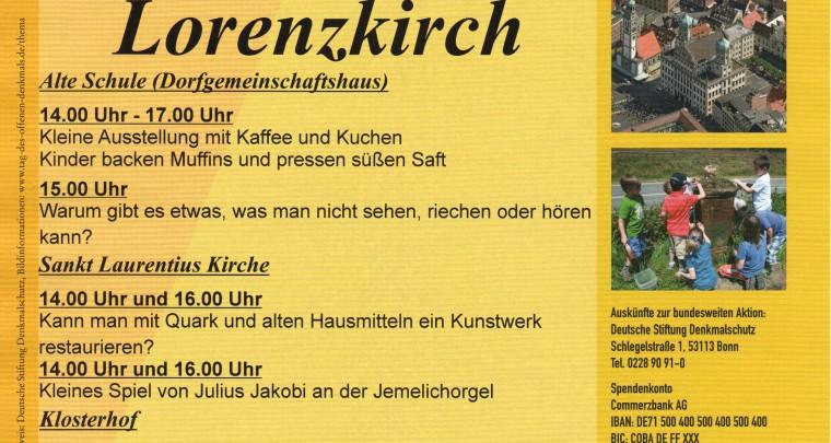 11. September: Tag des offenen Denkmals in Sachsens Schönsten Dörfern