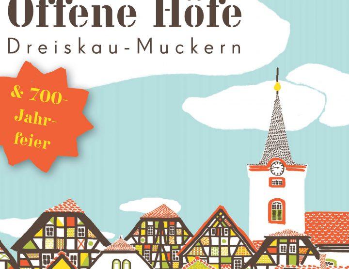 700 Jahre Dreiskau-Muckern - Einladung zur Geburtstagsfeier am 12. August