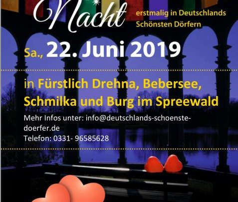 """""""Romantische Nacht"""" zur Sommersonnenwende erstmals auch in Deutschlands Schönsten Dörfern"""